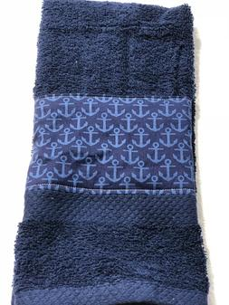 Nautical  Anchors  Kitchen Bath home hand towel