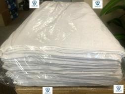 New 12pk White 24x50 10 Lbs 100% Cotton RingSpun Economy Gra