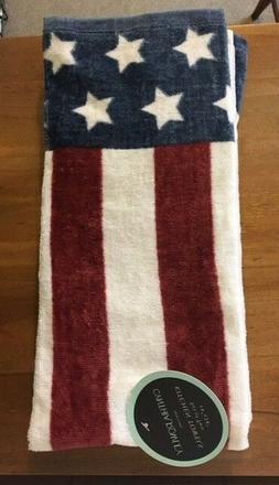 New Cynthia Rowley American Flag Kitchen / Bath Towels SOFT