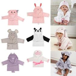 New Cute Animal Cartoon Baby Kids Hooded Bathrobe Toddler Bo