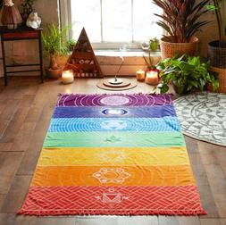 NEW Microfiber Fabric Material Bohemia India Mandala Blanket