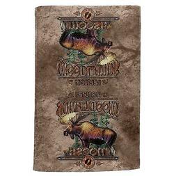 Northwoods Moose All Over Hand Towel