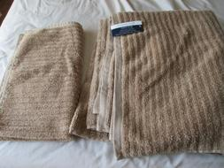 NWT Colormate Bath and Hand Towels 100% ring spun cotton tan