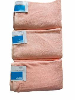 NWT Room Essentials Bath Towels – Set of 3 – Peach 30″