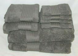 NWT Ralph Lauren Pebble Gray 3pc set: bath, hand washcloth T