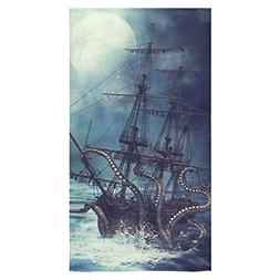 InterestPrint Octopus Kraken Sail Pirate Ship Boat Ocean Sea