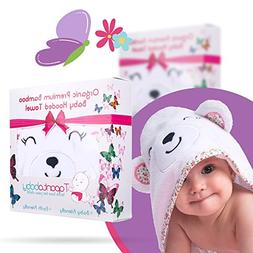Organic Bamboo Hooded Baby Towel and Washcloth Set - Hooded