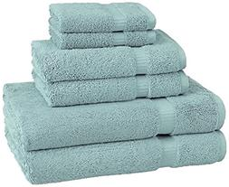 Pinzon Organic Cotton Towels 6 Piece Set, Spa Blue