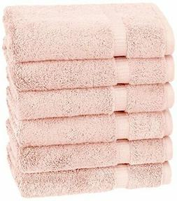 Pinzon Organic Cotton Hand Towels , Pale Peach