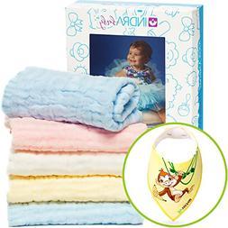 Baby Muslin Washcloths and Towels / Natural Organic Cotton B