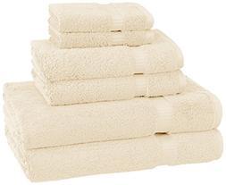 Pinzon Organic Cotton Towels 6 Piece Set, Ivory