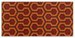 OVERLOOK PATTERN Beach or Bath Towels, Orange and Brown, Cre