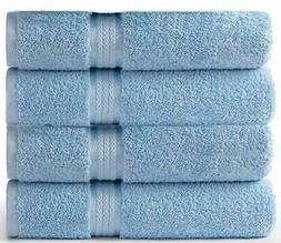 Cotton Craft Oversized EXLG  Bath Towels 30x54 Light Blue Pa