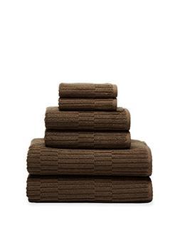 Chortex Oxford %100 Turkish Cotton Towel Set, 6 Pcs