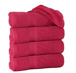 """Pack of 4 Large Bath Towels 100% Cotton 27""""x55"""" Highly Absor"""
