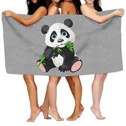 KAYERDELLE Unisex Panda Bamboo Beach Towels Washcloths Bath