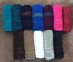 """Personalized Embroidered Bath Towels 30""""x54"""" Several Colors"""