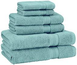 Pinzon Low Twist Pima Cotton 650-Gram 6-Piece Towel Set, Min
