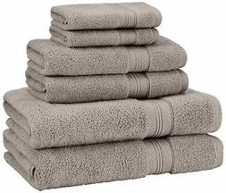 Pinzon Low Twist Pima Cotton 650-Gram 6-Piece Towel Set, Pla