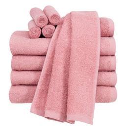 Pink 10 Piece Towel Set 100% Cotton Bath Towels Wash Cloths