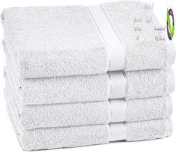 Pinzon 4 Piece Egyptian Cotton Bath Towels Set - White