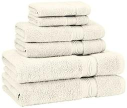 Pinzon by Amazon Pinzon 6 Piece Pima Cotton Bath Towel Set -