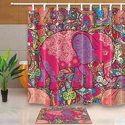 ChuaMi Polyester Fabric 69 x 70 Inches Shower Curtain Set wi