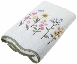 Avanti Linens Premier Country Floral Bath Towel, White