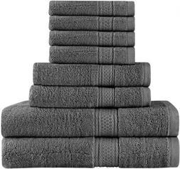 Utopia Towels Premium 8 Piece Towel Set  - 2 Bath Towels, 2