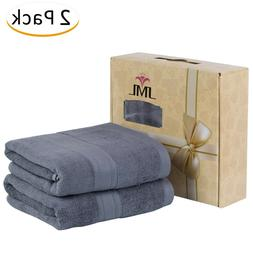 Premium Bamboo Cotton Bath Towels Natural, Ultra Absorbent a
