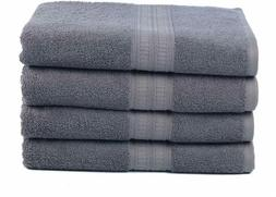 Ariv Collection Premium Bamboo Cotton Bath Towels - Natural,