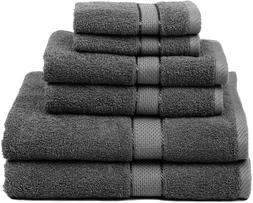 Premium Bamboo Cotton Towel Set 6 peaces-Natural,Ultra Absor