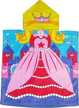 Princess 100% Cotton Poncho Style Hooded Bath & Beach Towel
