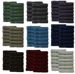 Premium Quality 24 Piece face Cloth 100% Combed Cotton Luxur