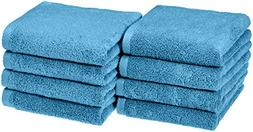 AmazonBasics Quick-Dry Hand Towels - 100% Cotton, 8-Pack, La