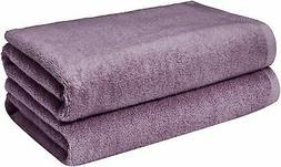 AmazonBasics Quick-Dry Towels, Bath Sheet, Lavender