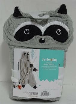 Raccoon Hooded Bath Towel Gray - Pillowfort - Kids Towel - G