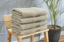 Swiss Republic 100% Ring Spun Cotton 4 Piece Bath Towel Set