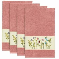 Authentic Hotel and Spa Rose Turkish Cotton Wildflowers Embr