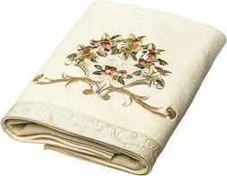 Avanti Linens Rosefan Bath Towel, Ivory