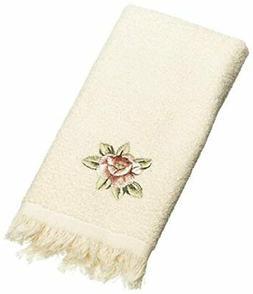 Avanti Linens Rosefan Fingertip Towel, Ivory