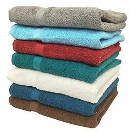 """Ruthy's Textile 7-Pack 27"""" X 54"""" 100% Cotton Bath Towels"""