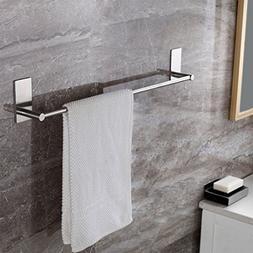 Bosszi Self Adhesive Bathroom Towel Bar Brushed SUS 304 Stai