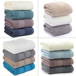 Set of 1/2/4 Luxury Large Cotton Bath Towel Gym Spa Beach To