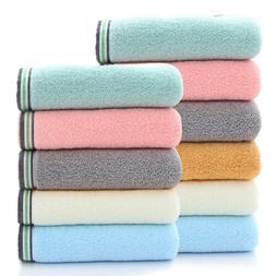 Set of 12 Bathroom Cotton Bath Towel Face Hand Towel Washclo