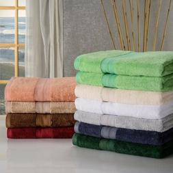 Set of 2 Quick Dry 100% Rayon Made From Bamboo Soft and Abso