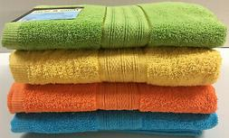 "Set of 4, 100% Cotton Bath Towels, Large 27"" x 54"" Size, Ass"
