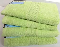 """Set of 4, 100% Cotton Bath Towels, Large 27"""" x 54"""" Size, Gre"""