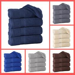 """Set of 4 Large Bath Towel Sheets 100% Cotton 27""""x55"""" 500 GSM"""