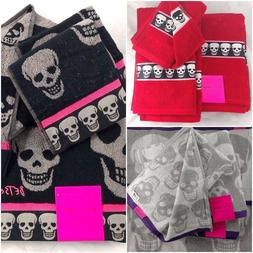 Betsey Johnson Skull Bath Towel Sets Mix & Match Hand Towel